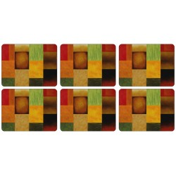 Plymouth Pottery Set of 6 Majestic Coasters
