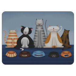 Hungry Cats animal design corkbacked tablemats by Jo Parry for Plymouth Pottery.