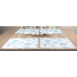 Celeste fleximats white side tablemats