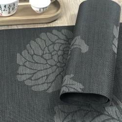 Carbon woven vinyl Fleximats close up of reverse side