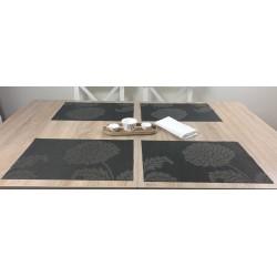 Carbon woven vinyl Fleximats dining table setting