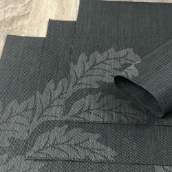 Carbon woven vinyl Fleximats reverse side in focus
