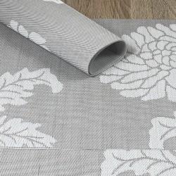 Taupe woven vinyl Fleximats placemats in focus