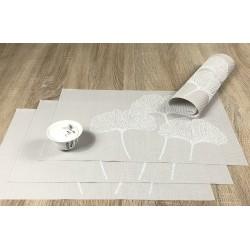 Vanilla Fleximats set of 4 flexible placemats with decorative bowl