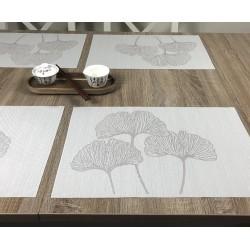 Reverse version of Vanilla Fleximats set of 4 flexible placemats and centre pieces