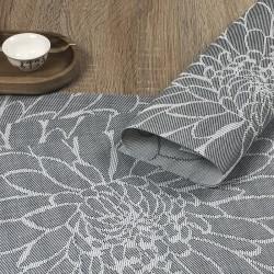 Focused image of the woven vinyl tablemats Steel Fleximats design