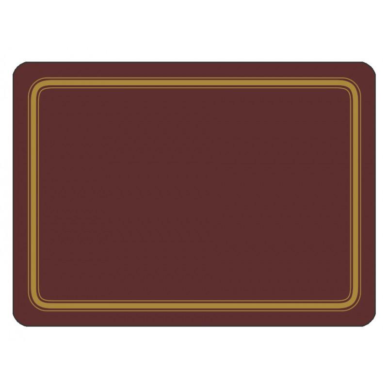 Claret colour melamine placemats corkbacked UK made