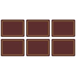 Regal Claret melamine placemats corkbacked UK made, burgundy colour tablemats