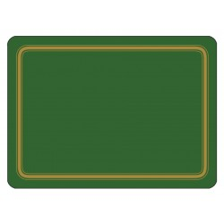 Forest Green colour melamine placemats, rigid corkbacked UK made tablemats
