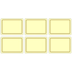 Set of 6 melamine placemats, UK made, cream colour corkbacked tablemats