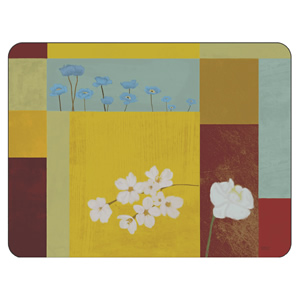 Daisy Square corkbacked floral placemats