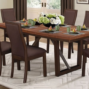 contemporary dining table with Fleximats placemats
