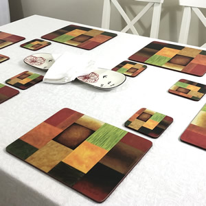 Plymouth Pottery Majestic funky placemats