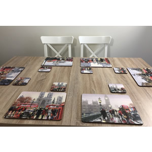 Streets of London set of 6 placemats